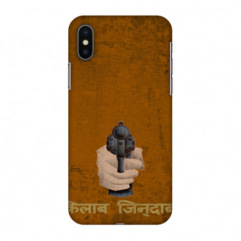 Inquilab Zindabad - BAndook - Mustard Slim Hard Shell Case For Apple iPhone X