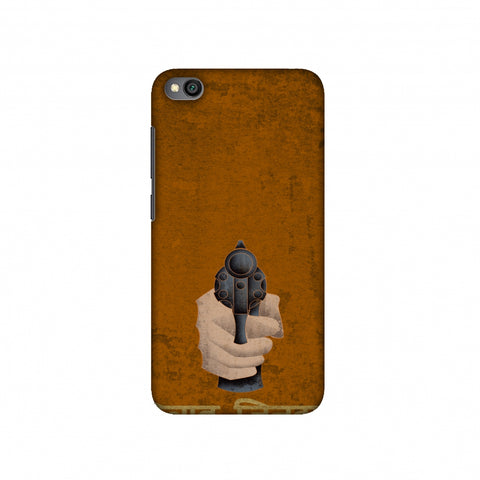 Inquilab Zindabad - Bandook - Mustard Slim Hard Shell Case For Redmi Go