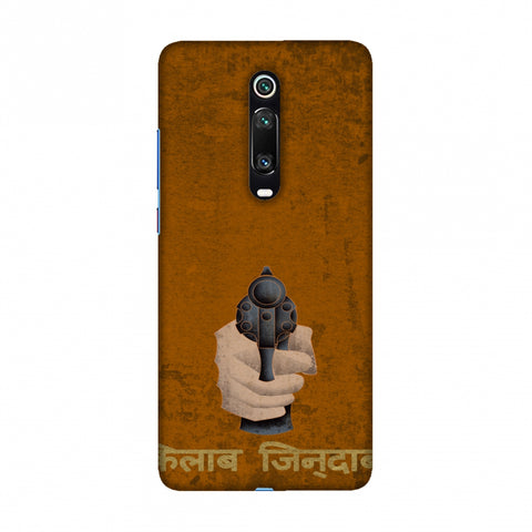 Inquilab Zindabad - Bandook - Mustard Slim Hard Shell Case For Redmi K20/K20 Pro