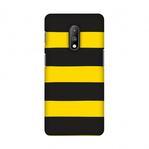 Bees - Fat Stripes Slim Hard Shell Case For OnePlus 7