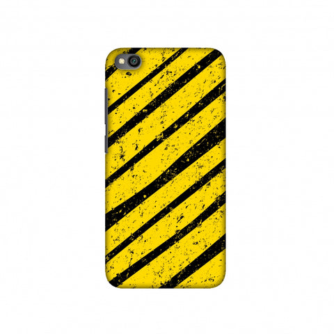 Bees - Diagonal Art Stripes Grunge Slim Hard Shell Case For Redmi Go