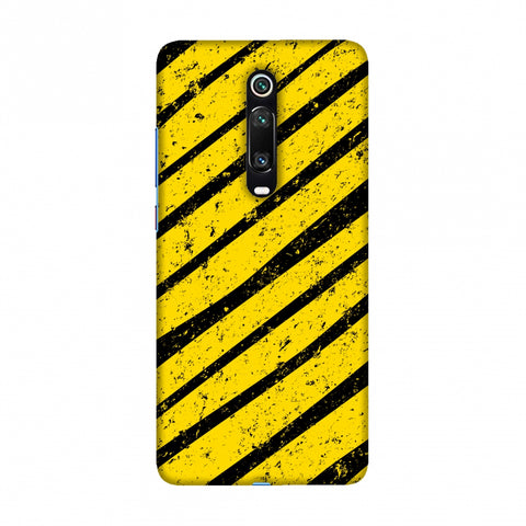 Bees - Diagonal Art Stripes Grunge Slim Hard Shell Case For Redmi K20/K20 Pro
