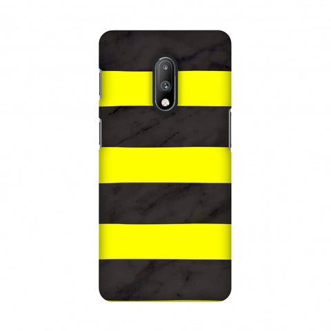 Bees - Marble Stripes - Black Slim Hard Shell Case For OnePlus 7
