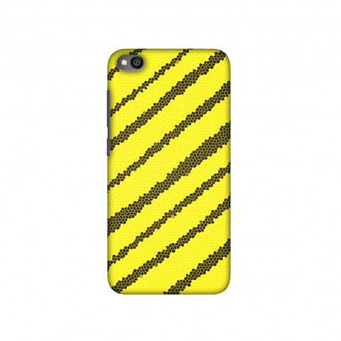Bees - Stained Glass Diagonal Stripes Slim Hard Shell Case For Redmi Go