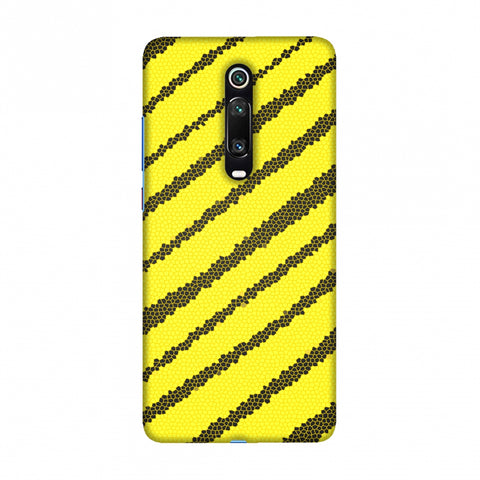 Bees - Stained Glass Diagonal Stripes Slim Hard Shell Case For Redmi K20/K20 Pro