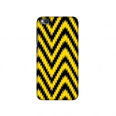 Bees - Zig Zag Chevron Slim Hard Shell Case For Redmi Go