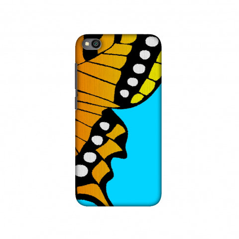 Butterfly - Fibre Wings Slim Hard Shell Case For Redmi Go