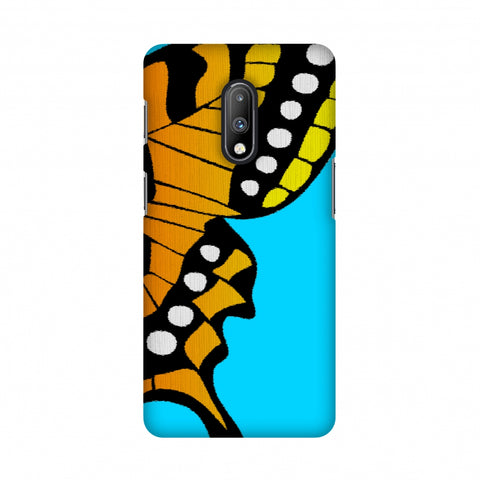 Butterfly - Fibre Wings Slim Hard Shell Case For OnePlus 7