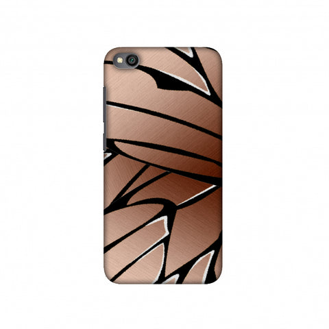 Butterfly - Copper Ombre Fibre Wing Slim Hard Shell Case For Redmi Go