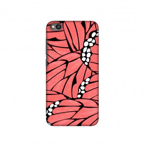 Butterfly - Coral And White Poster Fibre Wing Slim Hard Shell Case For Redmi Go