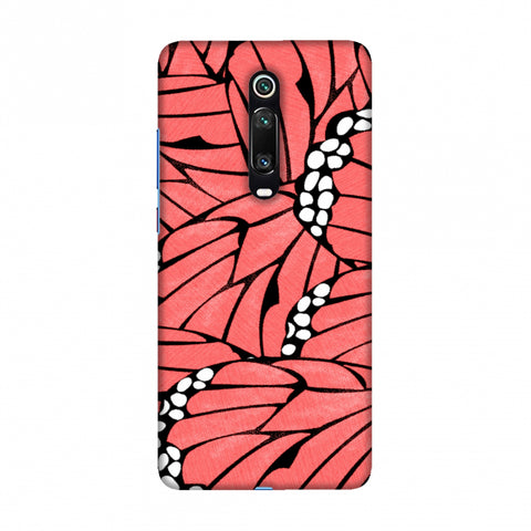 Butterfly - Coral And White Poster Fibre Wing Slim Hard Shell Case For Redmi K20/K20 Pro