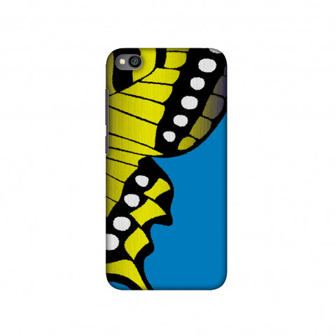 Butterfly - Fibre Wings Gradation - Mustard To Blue Slim Hard Shell Case For Redmi Go