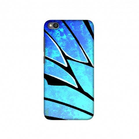 Butterfly - Blue Ombre Bleached Fibre Wing Slim Hard Shell Case For Redmi Go