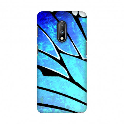 Butterfly - Blue Ombre Bleached Fibre Wing Slim Hard Shell Case For OnePlus 7