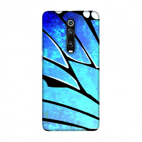 Butterfly - Blue Ombre Bleached Fibre Wing Slim Hard Shell Case For Redmi K20/K20 Pro