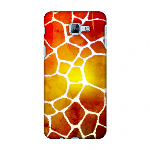 Giraffe - White Brushed Scales With Organic Burnt Watercolour Slim Hard Shell Case For Samsung Galaxy A8 2016