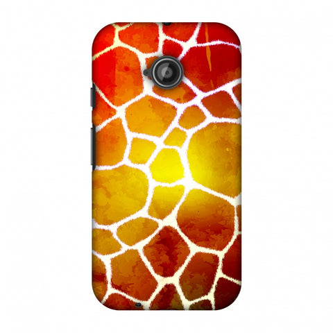 Giraffe - White Brushed Scales With Organic Burnt Watercolour Slim Hard Shell Case For Motorola Moto E 2nd Gen