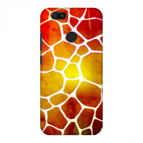 Giraffe - White Brushed Scales With Organic Burnt Watercolour Slim Hard Shell Case For Xiaomi MI A1-5X