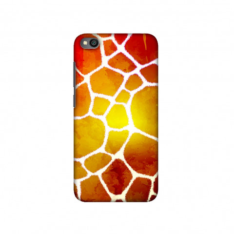 Giraffe - White Brushed Scales With Organic Burnt Watercolour Slim Hard Shell Case For Redmi Go