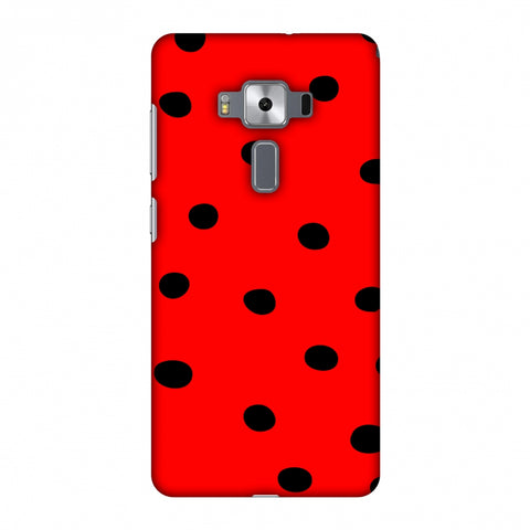 Lady Bug - Red And Black Dots Slim Hard Shell Case For Asus Zenfone 3 Deluxe ZS570KL