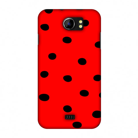 Lady Bug - Red And Black Dots Slim Hard Shell Case For Micromax Canvas 2 A110