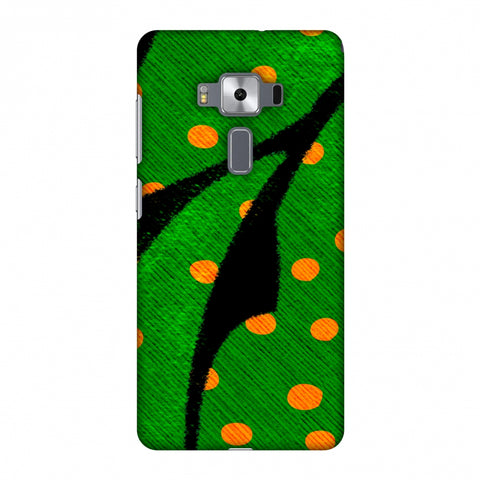Lady Bug - Mustard Dots On Butterfly Fibre Wing Slim Hard Shell Case For Asus Zenfone 3 Deluxe ZS570KL