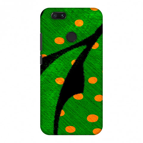 Lady Bug - Mustard Dots On Butterfly Fibre Wing Slim Hard Shell Case For Xiaomi MI A1-5X