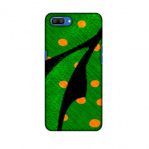 Lady Bug - Mustard Dots On Butterfly Fibre Wing Slim Hard Shell Case For Oppo Realme C1