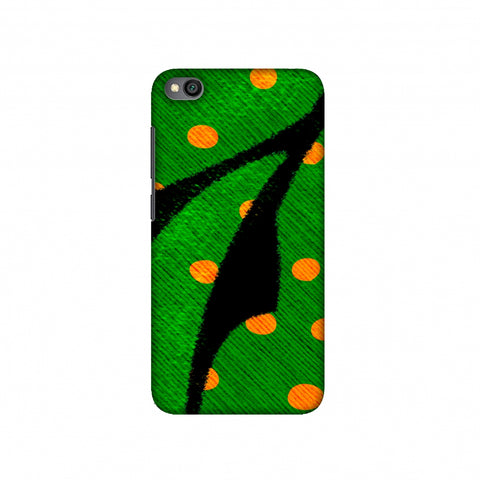 Lady Bug - Mustard Dots On Butterfly Fibre Wing Slim Hard Shell Case For Redmi Go
