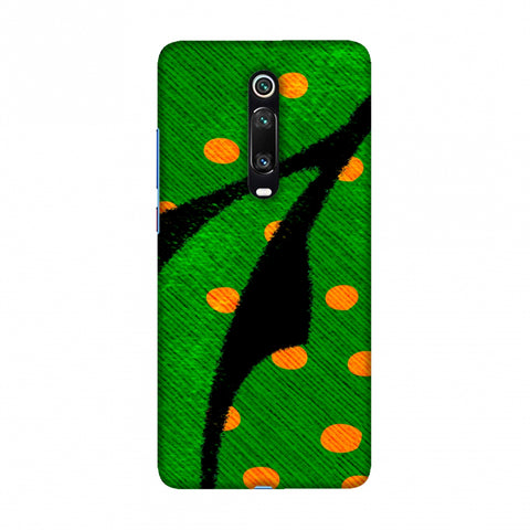 Lady Bug - Mustard Dots On Butterfly Fibre Wing Slim Hard Shell Case For Redmi K20/K20 Pro