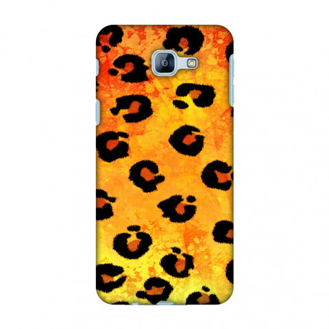 Leopard - Brushed Spots - Yellow Grunge Slim Hard Shell Case For Samsung Galaxy A8 2016