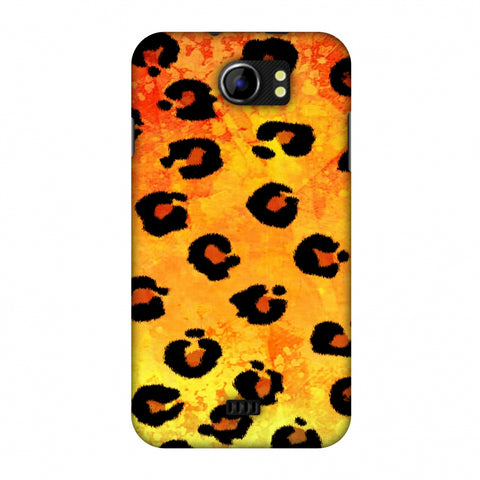 Leopard - Brushed Spots - Yellow Grunge Slim Hard Shell Case For Micromax Canvas 2 A110