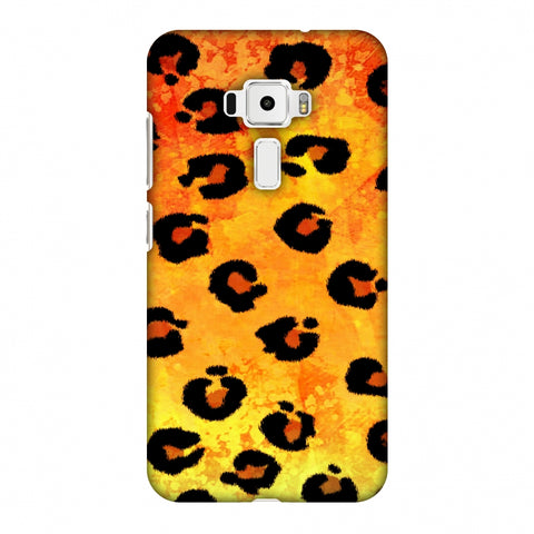 Leopard - Brushed Spots - Yellow Grunge Slim Hard Shell Case For Asus Zenfone 3 ZE520KL