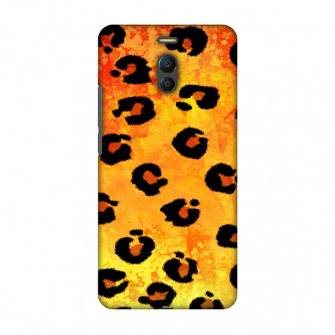 Leopard - Brushed Spots - Yellow Grunge Slim Hard Shell Case For Meizu Note 6