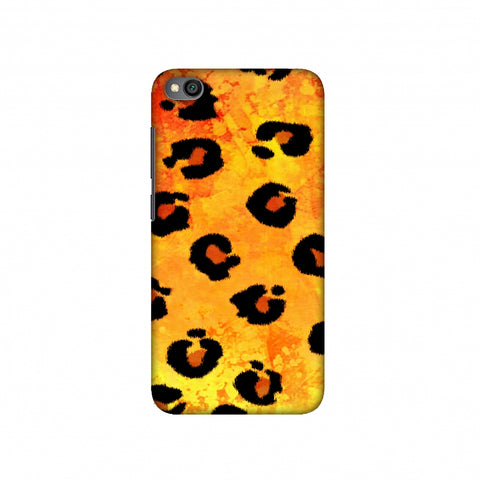 Leopard - Brushed Spots - Yellow Grunge Slim Hard Shell Case For Redmi Go