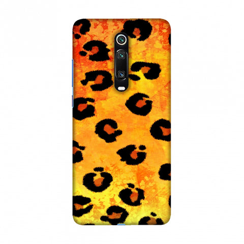 Leopard - Brushed Spots - Yellow Grunge Slim Hard Shell Case For Redmi K20/K20 Pro