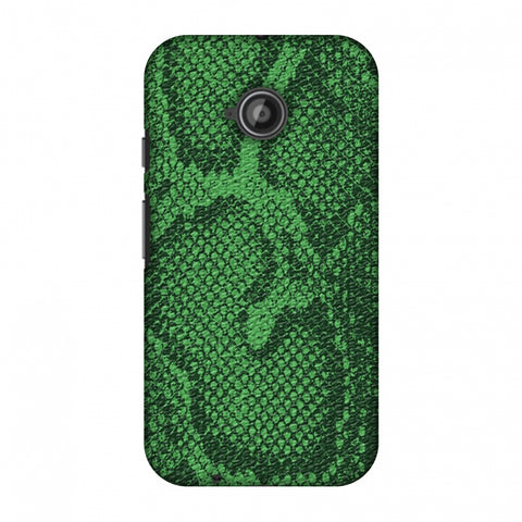 Snakes - Grass Green Skin Slim Hard Shell Case For Motorola Moto E 2nd Gen