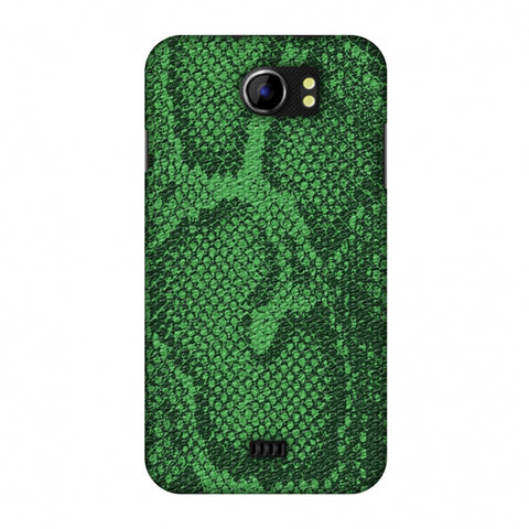 Snakes - Grass Green Skin Slim Hard Shell Case For Micromax Canvas 2 A110