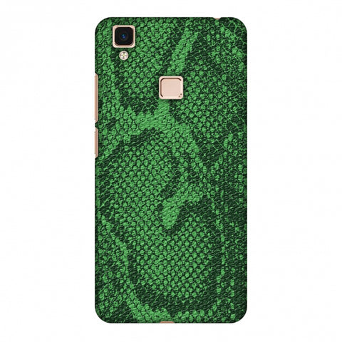 Snakes - Grass Green Skin Slim Hard Shell Case For Vivo V3 Max