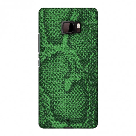 Snakes - Grass Green Skin Slim Hard Shell Case For HTC U Ultra
