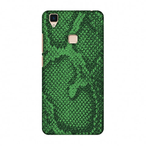 Snakes - Grass Green Skin Slim Hard Shell Case For Vivo V3