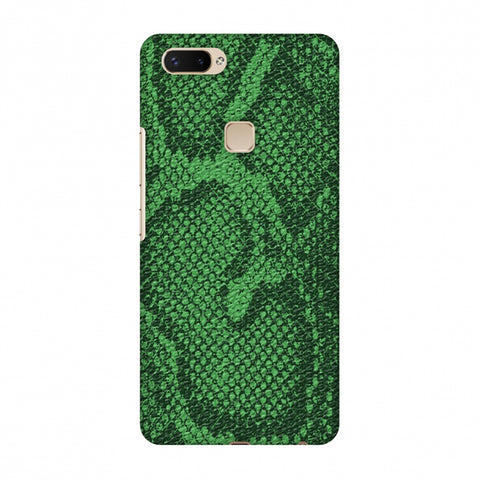 Snakes - Grass Green Skin Slim Hard Shell Case For Vivo X20 Plus