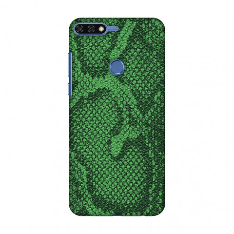 Snakes - Grass Green Skin Slim Hard Shell Case For Huawei Honor 7C