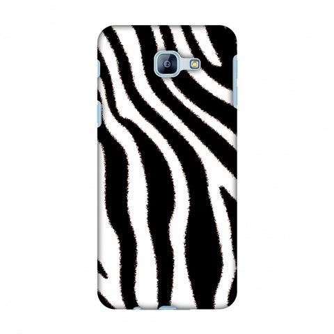 Zebra - Black And White Brushed Stripes Hair Effect Slim Hard Shell Case For Samsung Galaxy A8 2016