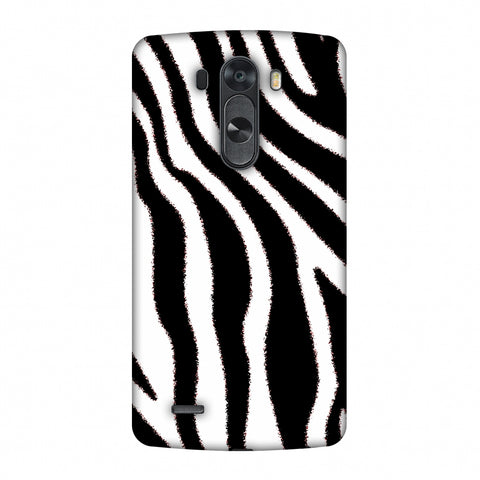 Zebra - Black And White Brushed Stripes Hair Effect Slim Hard Shell Case For LG G4