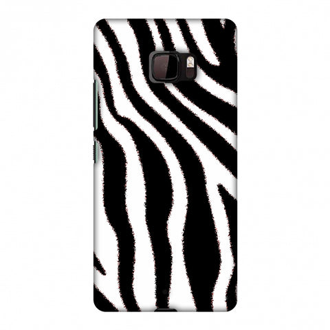 Zebra - Black And White Brushed Stripes Hair Effect Slim Hard Shell Case For HTC U Ultra