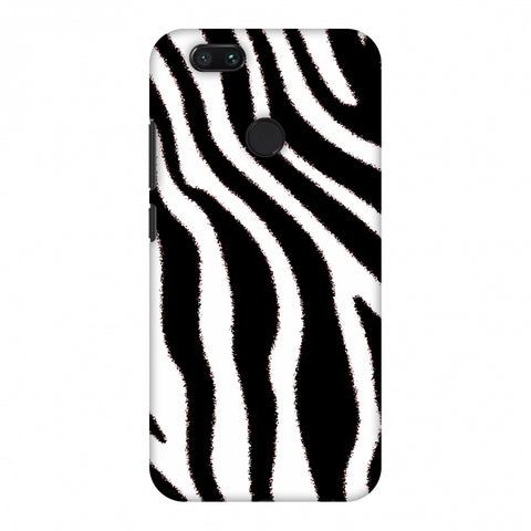 Zebra - Black And White Brushed Stripes Hair Effect Slim Hard Shell Case For Xiaomi MI A1-5X
