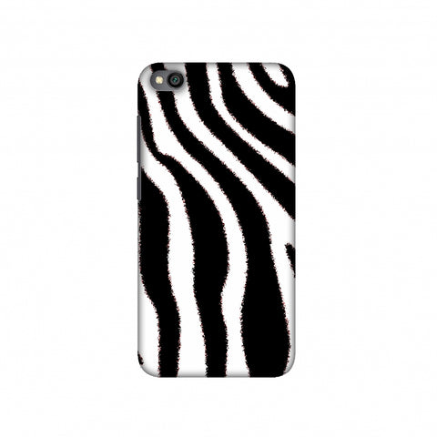 Zebra - Black And White Brushed Stripes Hair Effect Slim Hard Shell Case For Redmi Go