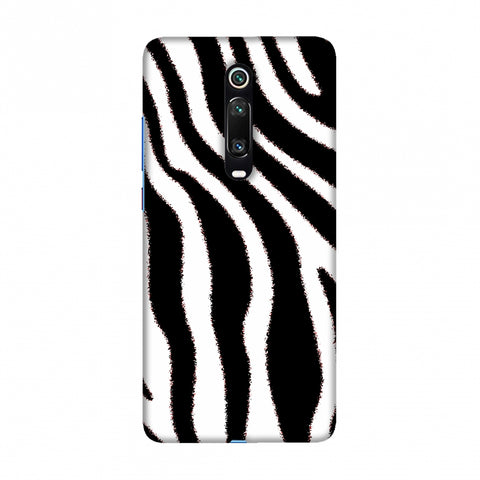 Zebra - Black And White Brushed Stripes Hair Effect Slim Hard Shell Case For Redmi K20/K20 Pro
