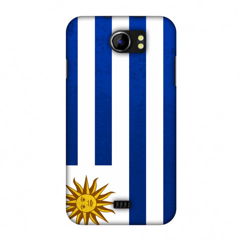 Love For Uruguay Slim Hard Shell Case For Micromax Canvas 2 A110